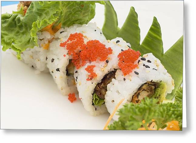 Inside Out Greeting Cards - Sushi Platter Featuring Uramaki Ottawa Greeting Card by Stock Foundry