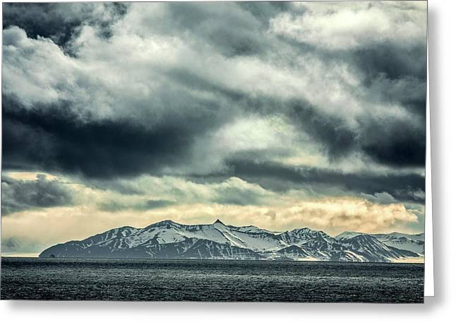Svalbard Mountains Greeting Card by Paul Williams