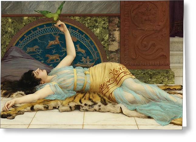 Doing Greeting Cards - Sweet doing nothing. Dolce far niente Greeting Card by John William Godward