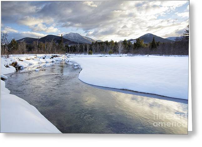 New England Snow Scene Greeting Cards - Swift River - Albany New Hampshire USA Greeting Card by Erin Paul Donovan