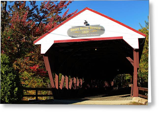 Swift River Covered Bridge Greeting Card by Jeff Folger