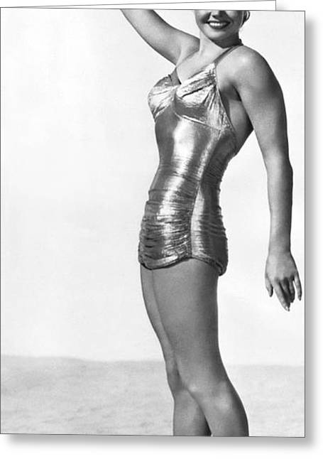 Swimming Star Esther Williams Greeting Card by Underwood Archives