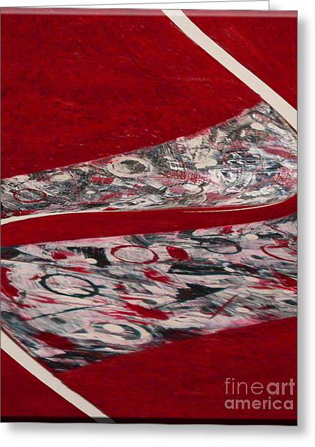 Hall Ceramics Greeting Cards - Swirl Greeting Card by Gabriele Mueller