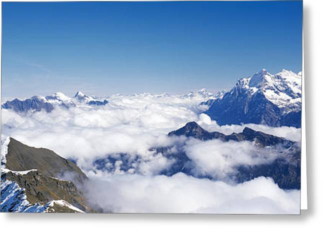 Swiss Photographs Greeting Cards - Swiss Alps Switzerland Greeting Card by Panoramic Images