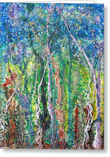 Color Reliefs Greeting Cards - Sylvan Fantasy Greeting Card by Regina Valluzzi