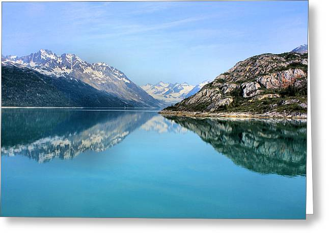 Glacier Bay Greeting Cards - Symmetry Greeting Card by Kristin Elmquist