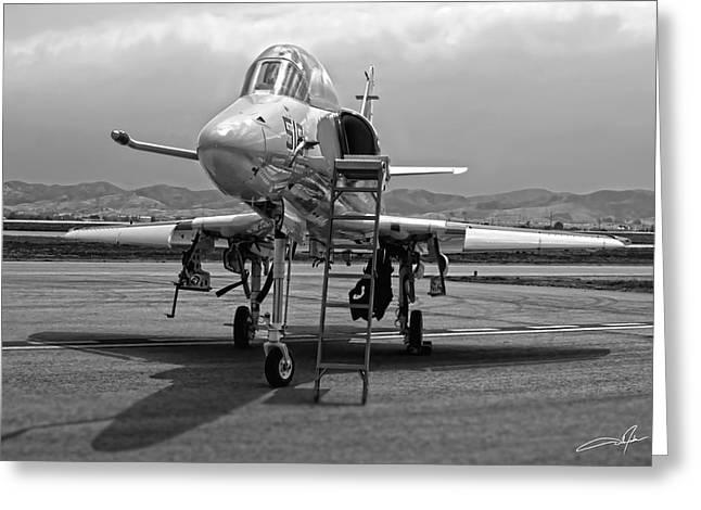Dale Jackson Greeting Cards - TA-4J Skyhawk Greeting Card by Dale Jackson