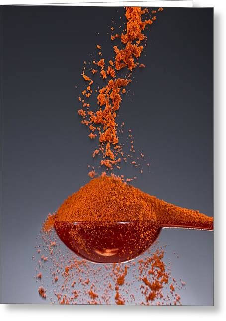 1 Tablespoon Paprika Greeting Card by Steve Gadomski