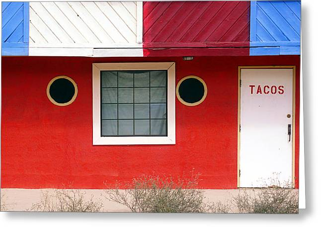 Taco Greeting Cards - Tacos Greeting Card by Ron Regalado