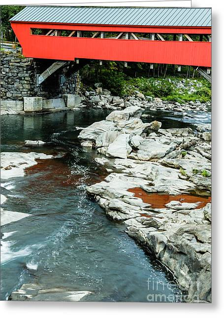 Historic Site Greeting Cards - Taftsville Covered Bridge Vermont Greeting Card by Edward Fielding