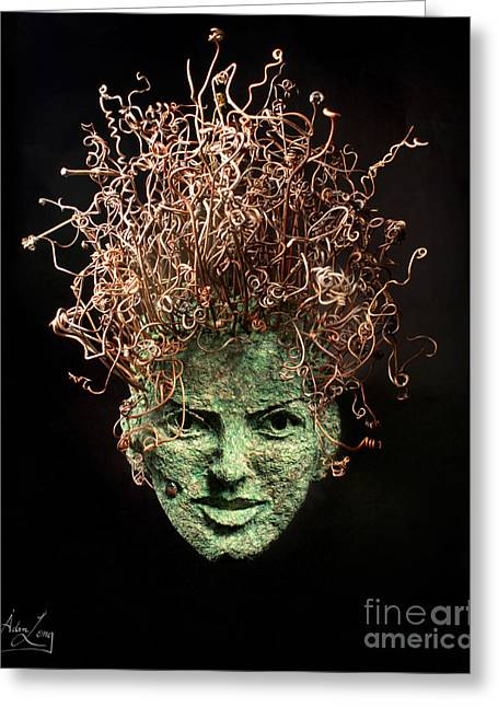 Face Reliefs Greeting Cards - Take a Chance Greeting Card by Adam Long