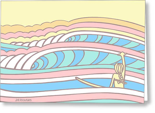 Recently Sold -  - Surfing Art Greeting Cards - Take a Moment Greeting Card by Joe Vickers