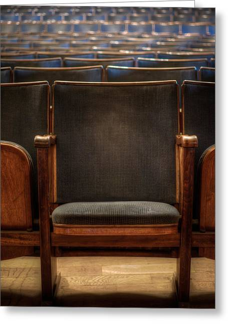 Empty Chairs Digital Greeting Cards - Take a seat Greeting Card by Nathan Wright