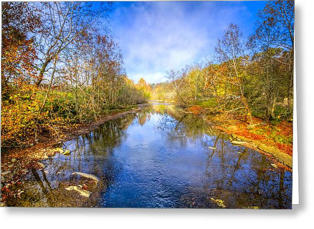 Reflections In River Greeting Cards - Take Me to the River Greeting Card by Debra and Dave Vanderlaan