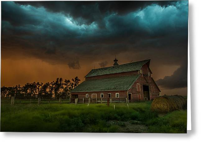 Severe Greeting Cards - Take Shelter Greeting Card by Aaron J Groen