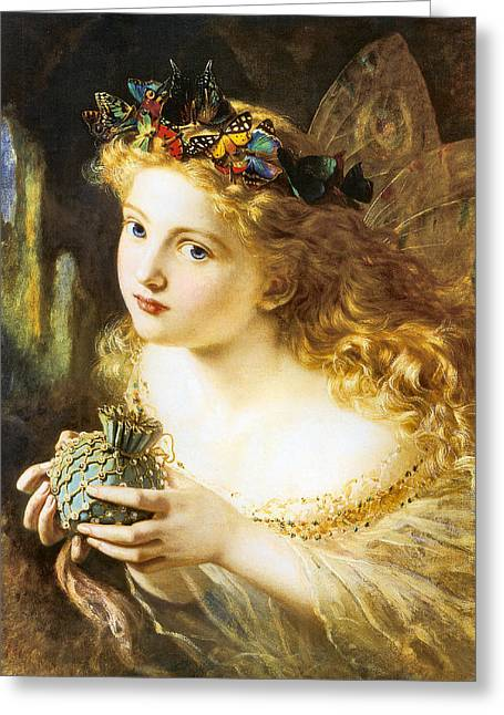 Fay Greeting Cards - Take The Fair Face Of Woman Greeting Card by Sophie Anderson