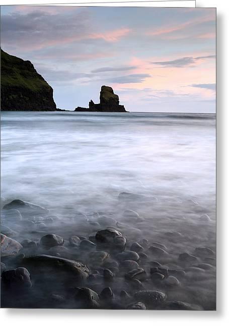 Stacks Framed Prints Greeting Cards - Talisker bay Scotland Greeting Card by Grant Glendinning