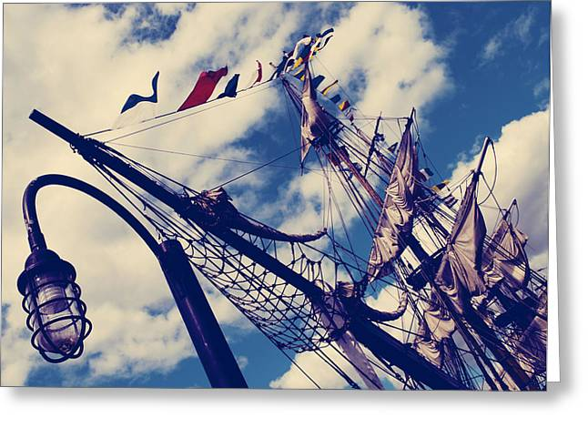 Tall Ships Greeting Cards - Tall Ships Greeting Card by Jerry Cordeiro