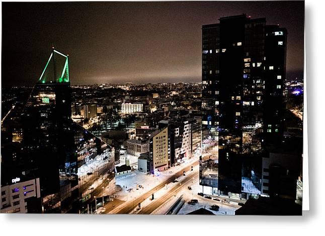 Tallinn at night Greeting Card by Raimond Klavins