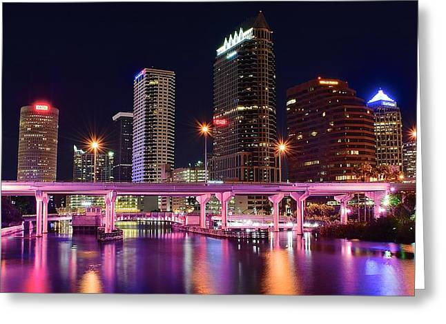 Buccaneer Greeting Cards - Tampa Colors Greeting Card by Frozen in Time Fine Art Photography