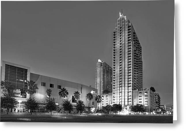 High Rise Greeting Cards - Tampa Skyline Greeting Card by Marvin Spates
