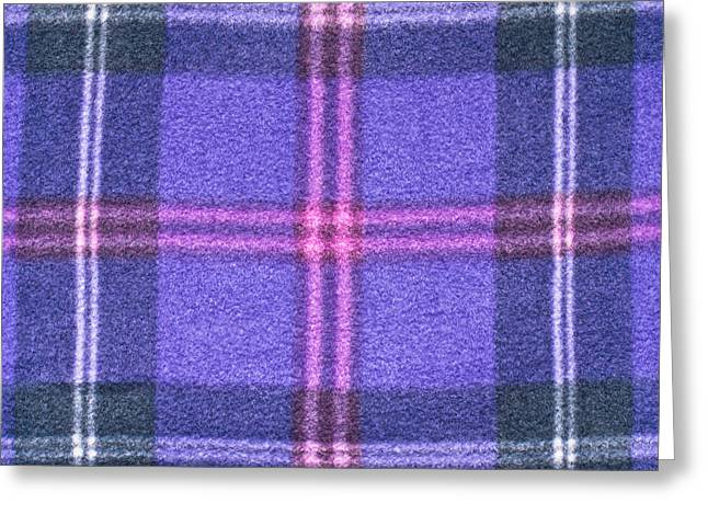 Lilac Greeting Cards - Tartan pattern Greeting Card by Tom Gowanlock