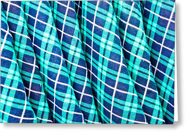 Apparel Greeting Cards - Tartan Greeting Card by Tom Gowanlock