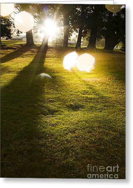 Tasmanian Countryside Landscape. Sun Shower Greeting Card by Jorgo Photography - Wall Art Gallery