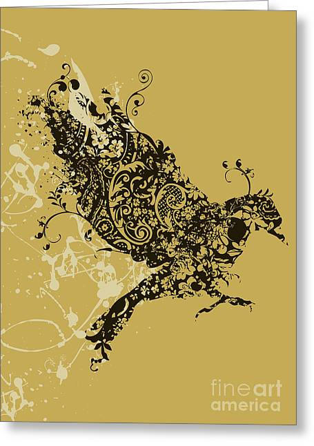 Patterned Greeting Cards - Tattooed bird Greeting Card by Budi Kwan