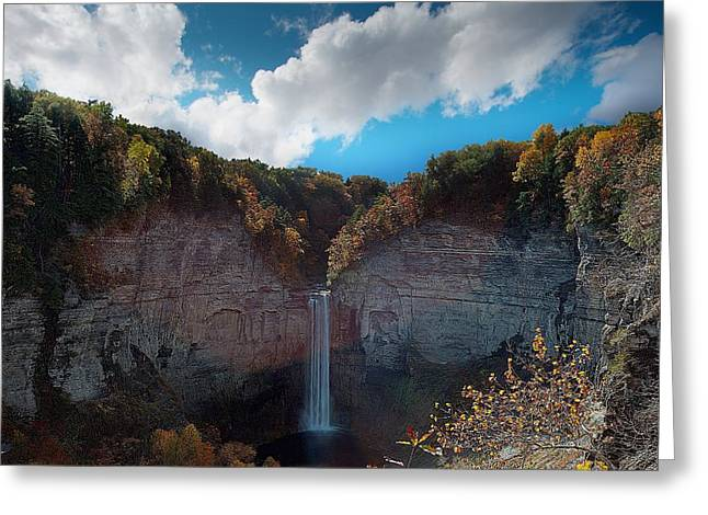 Finger Lakes Greeting Cards - Taughannock Falls Ithaca New York Greeting Card by Paul Ge