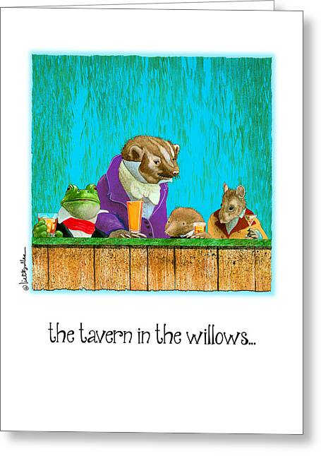 Tavern In The Willows... Greeting Card by Will Bullas