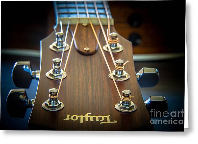 Taylor Guitar Greeting Cards - Taylor guitar Greeting Card by Warrena Barnerd
