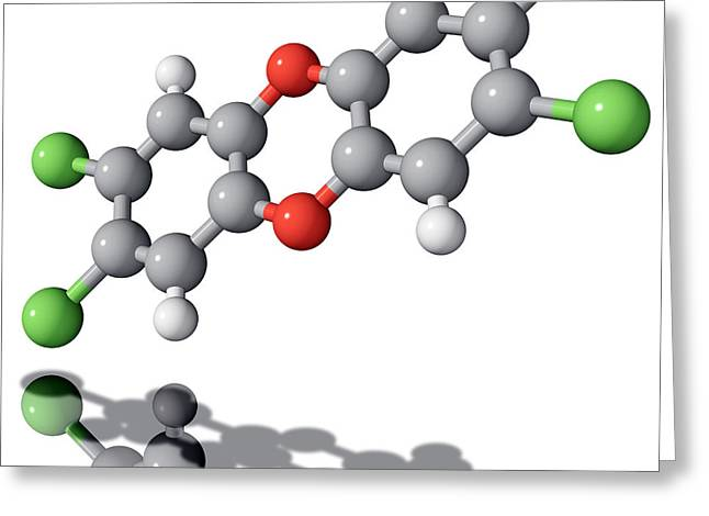 Viktor Greeting Cards - Tcdd Dioxin Molecule Greeting Card by Laguna Design