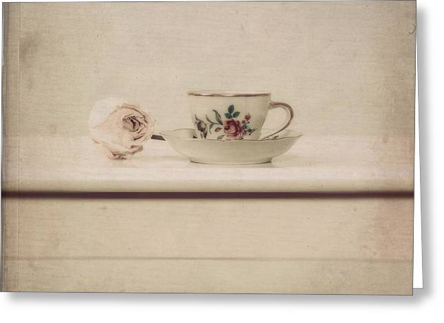 Cup Photographs Greeting Cards - Tea Cup Greeting Card by Joana Kruse