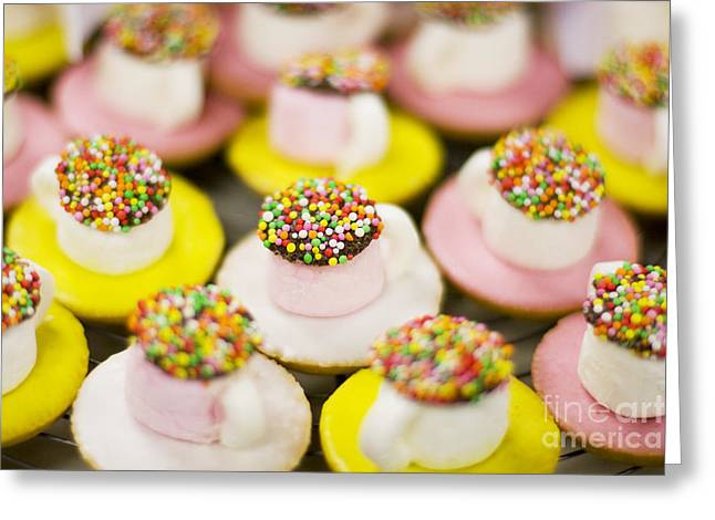 Tea Cup Lollies Greeting Card by Jorgo Photography - Wall Art Gallery