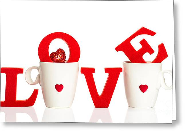 Valentines Day Greeting Cards - Tea For Two Greeting Card by Amanda And Christopher Elwell