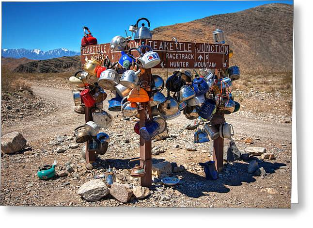 Teakettle Junction New Sign Greeting Card by James Marvin Phelps
