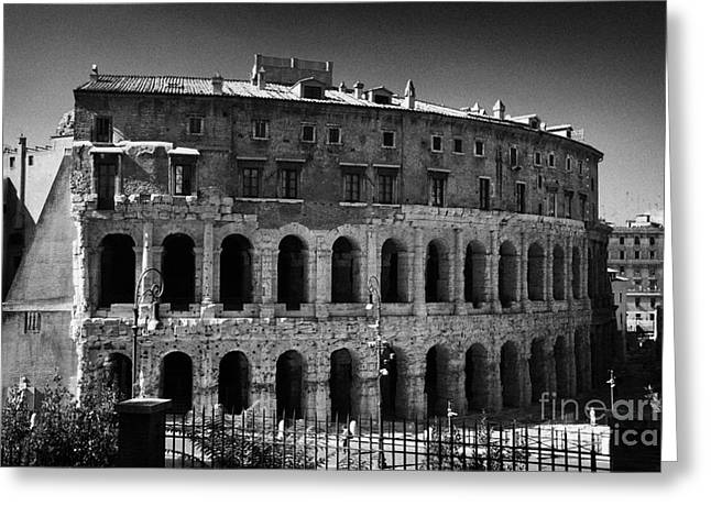 Marcelli Greeting Cards - Teatro Marcello Rome Lazio Italy Greeting Card by Joe Fox