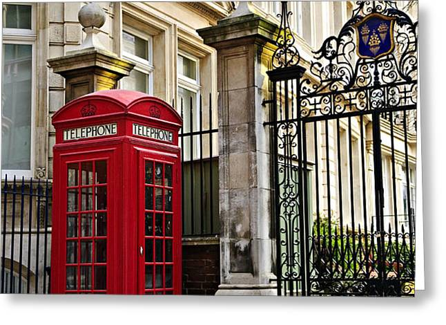 Telephone box in London Greeting Card by Elena Elisseeva