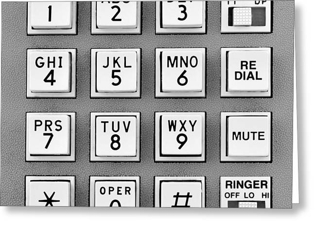 Telephone Touch Tone Keypad Greeting Card by Jim Hughes