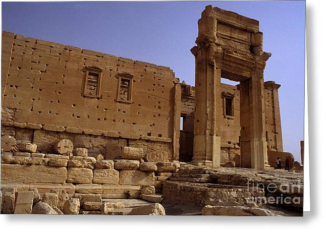 Ancient Ruins Greeting Cards - Temple Of Bel, Palmyra, Syria Greeting Card by Catherine Ursillo