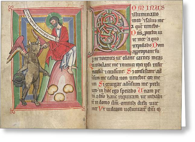 Temptation Of Christ Greeting Card by British Library