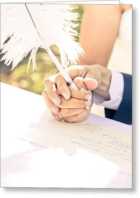 Lifelong Greeting Cards - Tender Pledge Of Commitment Greeting Card by Ryan Jorgensen
