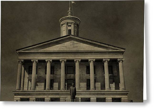 Nashville Tennessee Greeting Cards - Tennessee Capitol Building Greeting Card by Dan Sproul