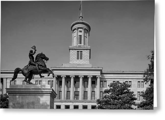 Nashville Tennessee Greeting Cards - Tennessee Capitol Building in Nashville Greeting Card by Mountain Dreams