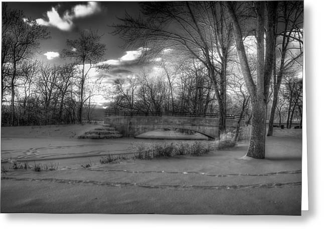 Recently Sold -  - Snowy Evening Greeting Cards - Tenney Park Winter Sunset - Madison Wisconsin Greeting Card by Mountain Dreams
