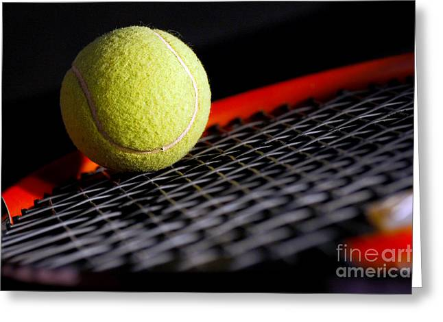 Tennis equipment Greeting Card by Michal Bednarek