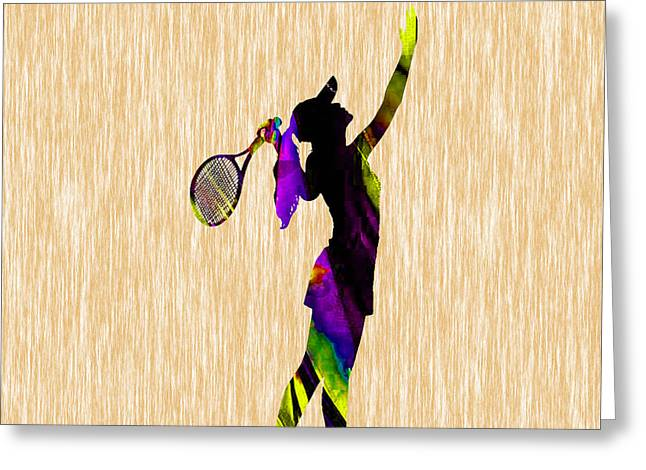 Womens Tennis Greeting Cards - Tennis Match Greeting Card by Marvin Blaine