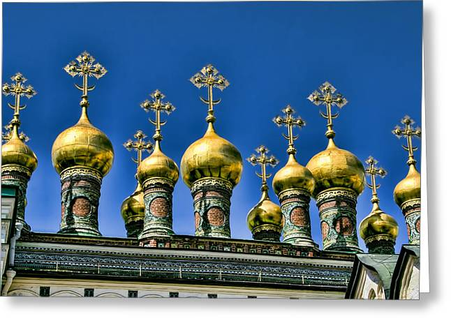 Cupola Greeting Cards - Terem Palace - Kremlin - Moscow Russia Greeting Card by Jon Berghoff