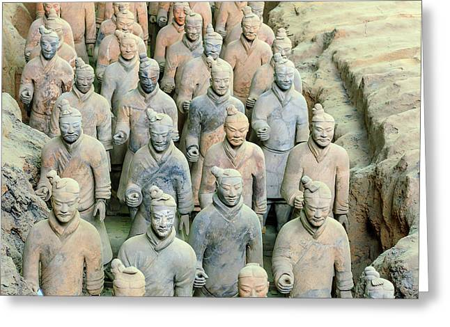 Terracotta Army Museum, Warriors Greeting Card by Stuart Westmorland